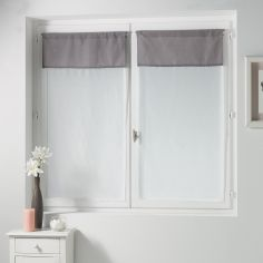 Femina Pair of Straight Voile Blinds with Slot Top - Taupe