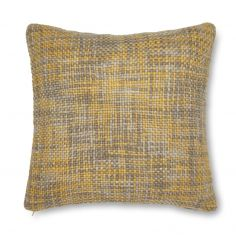 Catherine Lansfield Tonal Weave  Cushion Cover - Yellow