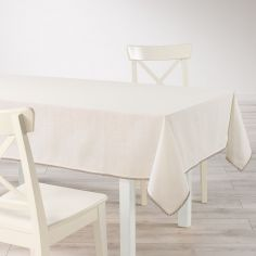 Femina Lace 100% Cotton Tablecloth - Cream