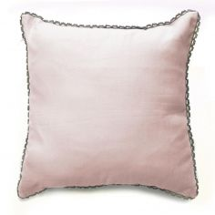Femina Lace 100% Cotton Square Cushion Cover - Pink