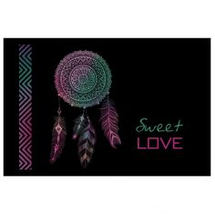 Sweet Love Rectangular Door Mat  - Black