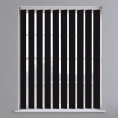 Boston Plain PVC Blackout Vertical Blinds - Black