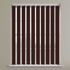Boston Plain Blackout Vertical Blinds - Cappuccino Brown
