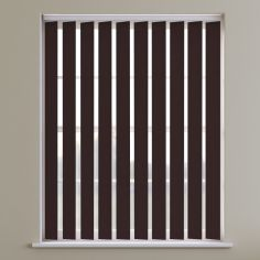 Boston Plain Blackout Vertical Blinds - Chocolate Brown