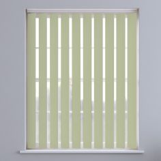 Boston Plain Vertical Blinds - Lily Green