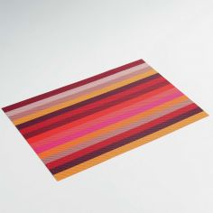 Melix PVC Striped Table Placemat - Red Pink Yellow