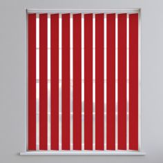 Boston Plain Vertical Blinds - Formula One Red