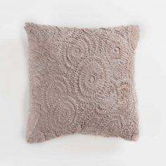 Eloise Embossed Fur Effect Complete Cushion - Natural