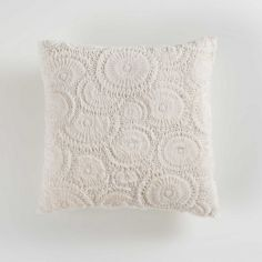 Eloise Embossed Fur Effect Complete Cushion - Cream