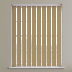 Boston Plain PVC Blackout Vertical Blinds - Ecru Yellow