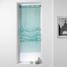 Pomponi Tie Up Voile Blind with Tab Top - Green