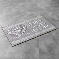 Home Sweet Home Rectangular Door Mat - Grey