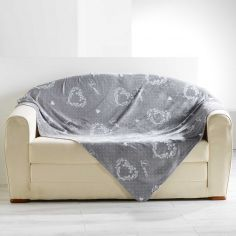 Home Love Soft Flannel Throw - Grey