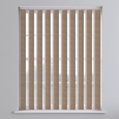 Amsterdam Textured Vertical Blinds - Mocha