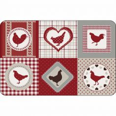 Patch Cocotte Opaque Table Placemat - Red