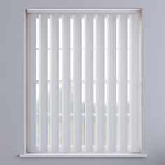 Candy Stripe Textured Vertical Blinds - White