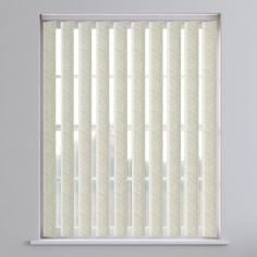 Pinata Textured Vertical Blinds - Cream