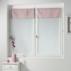 Femina Pair of Straight Voile Blinds with Slot Top - Pink