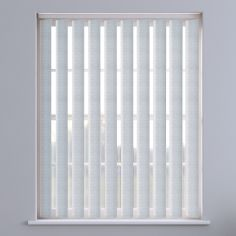 Seashell Textured Vertical Blinds - White