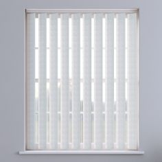 Tern Textured Vertical Blinds - White