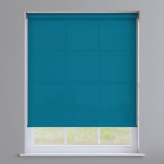 Boston Plain Roller Blind - Moroccan Blue