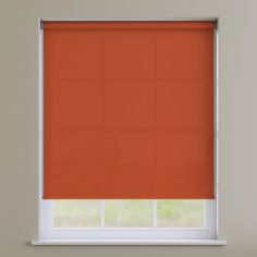 Boston Plain Roller Blind - Jaffa Orange