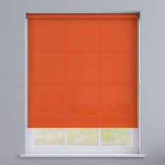 Boston Plain Roller Blind - Orange