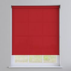 Boston Plain Roller Blind - Formula One Red