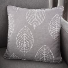 Helsinki Jacquard Cushion Cover - Graphite Grey