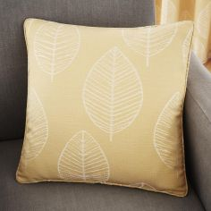 Helsinki Jacquard Cushion Cover - Ochre Yellow