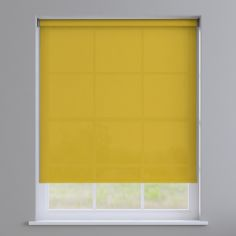 Boston Plain Roller Blind - Cyber Yellow