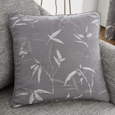 Sagano Jacquard Cushion Cover - Graphite Grey