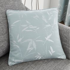 Sagano Jacquard Cushion Cover - Duck Egg Blue