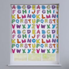 Alphabet Colourful Blackout Roller Blinds - Multi