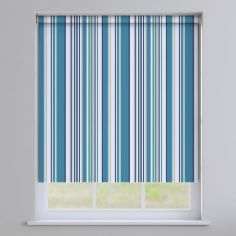 Henley Striped Roller Blinds - Blue