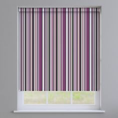 Henley Striped Roller Blinds - Purple