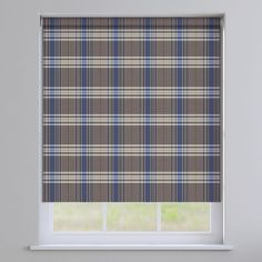 Highland Check Roller Blinds - Blue