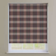Highland Check Roller Blinds - Bracken Orange