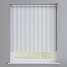 Regency Striped Roller Blinds - Light Cream