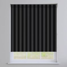 Regency Striped Roller Blinds - Noir Black