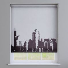 City Skyline Roller Blinds - Black & White