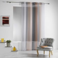 Galliance Geometric Eyelet Voile Curtain Panel - Copper