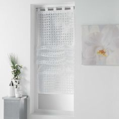 Glorenzea Devore Straight Blind with Tab Top - White