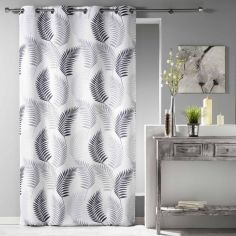 Goyave Floral Leaf Unlined Eyelet Curtain Panel - White