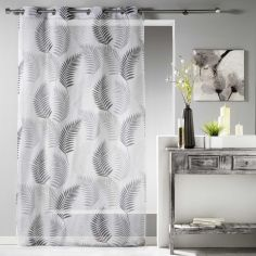 Goyave Floral Leaf Eyelet Voile Curtain Panel - White