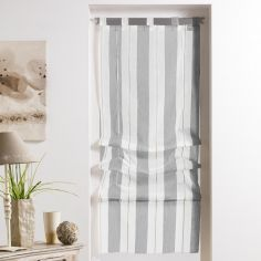 Helios Stripe Straight Blind with Tab Top - Grey
