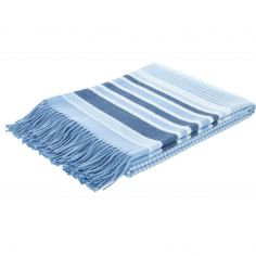 Catherine Lansfield Woven Striped Blanket - Blue