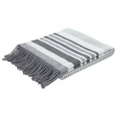 Catherine Lansfield Woven Striped Blanket - Grey