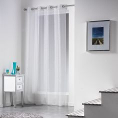 Inspira Silver Thread Eyelet Voile Curtain Panel
