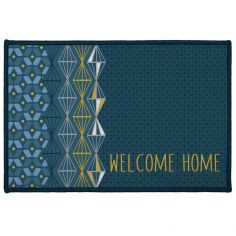 Kessy Welcome Home Rectangular Door Mat - Blue Multi